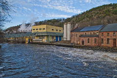 Le vecchie industrie dentro halden, ankers Fotografie Stock Libere da Diritti