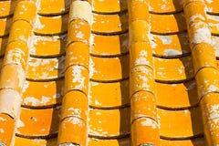 Le vecchie mattonelle di tetto cinesi Immagine Stock Libera da Diritti