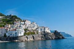 Le vecchie pareti di Amalfi Fotografie Stock