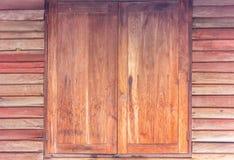 Le vecchie pareti di legno Fotografia Stock