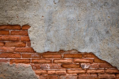 Le vecchie pareti sono fendute Fotografia Stock