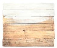 Le vecchie plance con la metà di hanno dipinto nel bianco Fotografie Stock Libere da Diritti
