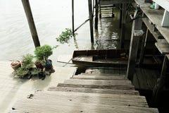 Le vecchie scale di legno Fotografia Stock Libera da Diritti