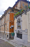 Le vecchie vie della città italiana di Udine Fotografia Stock Libera da Diritti