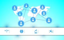 Le vecteur Access aux soins de santé entretient le fond infographic Photo stock