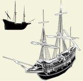 Le vecteur antique 04 de bateau Image stock