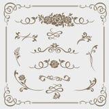 Le vecteur calligraphique d'éléments graphiques place pour des concepteurs - modèles, conceptions, monogrammes et enjolivures, fl illustration libre de droits
