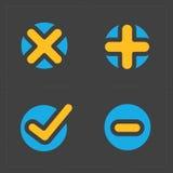 Le vecteur coloré confirment des icônes réglées Photographie stock libre de droits