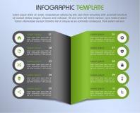 Le vecteur coloré moderne de calibre d'options d'infographics a conçu à Images stock