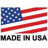 Le vecteur courant de vecteur a fait aux Etats-Unis signent illustration stock