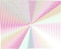 Le vecteur a d?form? des lignes fond iridescent color? Contexte cr?atif abstrait moderne avec les rayures variables de largeur co illustration libre de droits