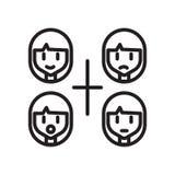 Le vecteur d'icône d'émotions d'isolement sur le fond blanc, émotions signent illustration libre de droits