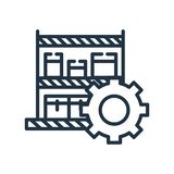 Le vecteur d'icône de produits d'isolement sur le fond blanc, produits signent illustration stock