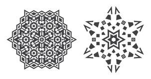 Le vecteur d'Israel Jew Ethnic Fractal Mandala ressemble au flocon de neige ou illustration libre de droits
