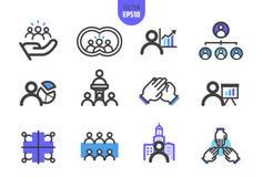Le vecteur d'organisation illustrent la ligne icône illustration stock