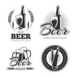 Le vecteur de bière de vintage symbolise, des labels, insignes, logos réglés illustration de vecteur