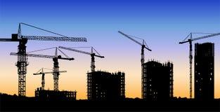 Le vecteur de construction de bâtiments illustration de vecteur