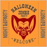 Le vecteur de Halloween de typographie de vintage Badges des logos Images stock