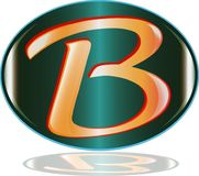 Le vecteur de logo de la lettre B Illustration Libre de Droits