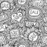 Le vecteur de nature de vente marque le modèle sans couture Photographie stock libre de droits
