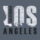 Le vecteur de T-shirt et d'habillement de Los Angeles conçoivent, impriment, typographie illustration de vecteur