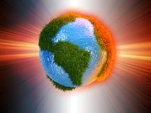 le vecteur différent d'illustration de globe visualise le monde illustration de vecteur
