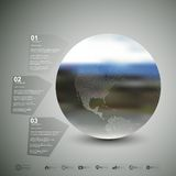 le vecteur différent d'illustration de globe visualise le monde Calibre d'Infographic pour des affaires Photo stock