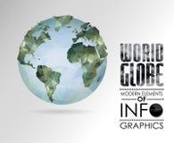 le vecteur différent d'illustration de globe visualise le monde Photo stock