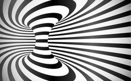 Le vecteur incurvé barre le fond d'abrégé sur illusion optique illustration de vecteur