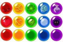 Le vecteur a isolé des bulles réglées Image libre de droits