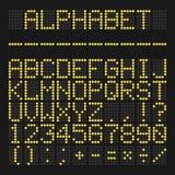 Le vecteur a mené l'alphabet illustration libre de droits