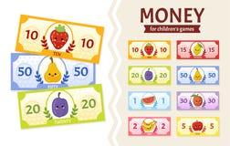 Le vecteur a plac? de la monnaie fiduciaire pour les jeux des enfants illustration de vecteur