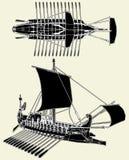 Le vecteur romain antique 04 de bateau Photographie stock libre de droits