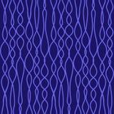Le vecteur sans couture a tricoté la texture de tissu avec les lignes bleues illustration stock