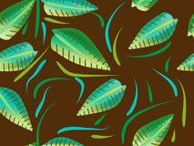 Le vecteur sans joint pousse des feuilles texture Photographie stock