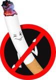 Le vecteur signe l'interdiction non-fumeurs illustration libre de droits