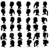 Le vecteur silhouette des personnes Images libres de droits
