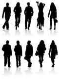 Le vecteur silhouette l'homme et le wom Images libres de droits