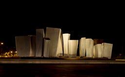 Le Vele - public monument, sculpture on seafront Marina di Carrara Stock Image