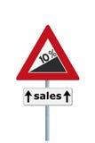 Le vendite aumentano avanti Fotografia Stock