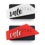 Le vendite totali Vendita dell'emblema Contrassegno nero Fotografia Stock Libera da Diritti
