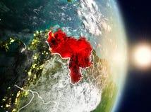 Le Venezuela pendant le lever de soleil Photo libre de droits