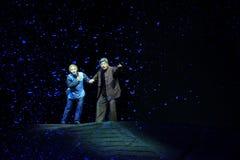 Le vent et l'opéra de Jiangxi de nuit de neige une balance Photographie stock libre de droits