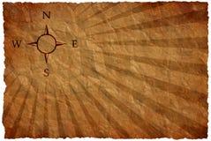 Le vent s'est levé sur une carte antique Images stock