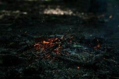 Le vent souffle sur des charbons photos libres de droits
