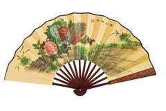 le ventilateur chinois a isolé Photographie stock