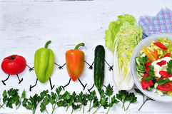 Le verdure dell'estate vanno ad insalata Immagine Stock