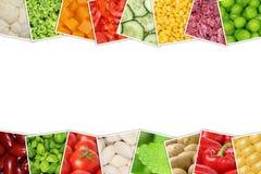 Le verdure gradiscono i pomodori, paprica, lattuga, patate con copysp Immagini Stock