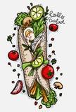 Le verdure hanno isolato di una vita gli oggetti sani di progettazione creativa Fotografie Stock