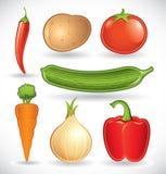 Le verdure Mixed hanno impostato 1 Fotografie Stock Libere da Diritti